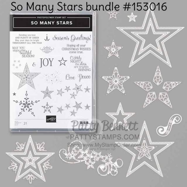 So Many Stars Stampin Up bundle #153016 online www.PattyStamps.com