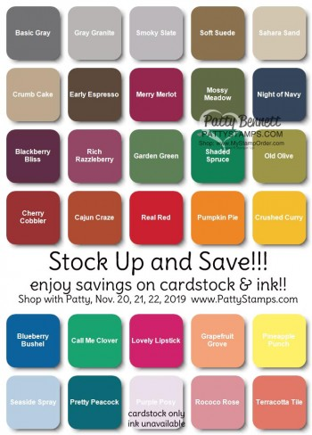 Sale on Stampin' UP! Cardstock & Ink Pads!