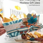 DIY Thanksgiving Hostess gift idea featuring Thankful napkins, fall candy and Stampin