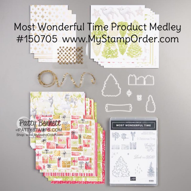 Most Wonderful Time Christmas papercrafting kit: Stampin' Up! product medley #150705 www.MyStampOrder.com