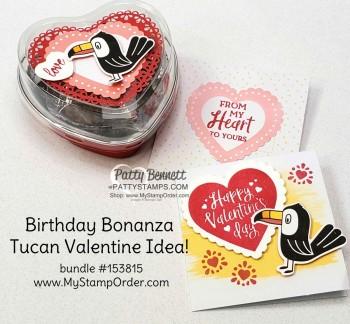 Birthday Bonanza Valentine Cards & Heart Tins