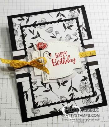 Golden Honey Sale-a-Bration Paper flower card