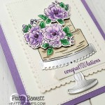 Happy Birthday to You Sale-a-Bration 2020 stamp set from Stampin Up paired with limited edition Birthday dies to die cut the cake, stand and flowers! by Patty Bennett www.PattyStamps.com