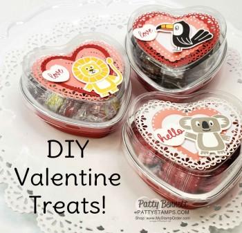 DIY Heart Tin Valentine Treats