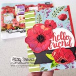 Peaceful Poppies / Poppy Moments dies flower card idea featuring Stampin