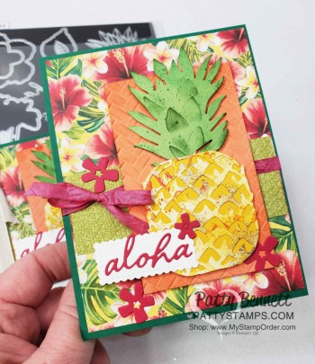 Tropical Oasis Pineapple Card Tips