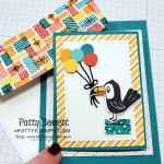 Birthday Bonanza Fold Out Gift Card Holder with Stampin Up toucan, lion and koala. Patty Bennett www.PattyStamps.com