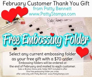 Free Embossing Folder February Customer Gift