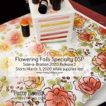 Flowering Foils designer paper - new for Sale-a-Bration 2020 starting March 3 from Stampin Up! Sponge color onto flowers with daubers. www.PattyStamps.com