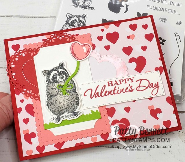 Valentine Card Idea featuring the Special Someone stamp set and matching Special Day dies from Stampin' Up!, with From my Heart designer paper. by Patty Bennett www.PattyStamps.com