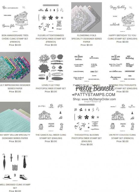 Stampin' UP! Sale-a-Bration gift choices with your online order!! www.PattyStamps.com