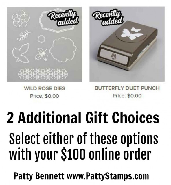 Stampin' UP! Sale-a-Bration Release 3 - more gift choices with your online order!! www.PattyStamps.com