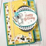 Birthday Bonanza Koala Bear birthday card idea featuring Stampin Up papercrafting supplies. www.PattyStamps.com