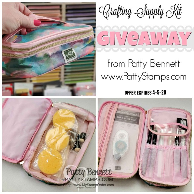 Crafting Supply Kit Giveaway from Patty Bennett www.PattyStamps.com expires April 5, 2020