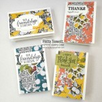 Botanical Prints card kit ideas by Patty Bennett. Stampin