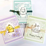 Welcome Easter stamp set card ideas featuring the Jubilee Beauty dies and So Very Vellum Sale-a-Bration gift from Stampin