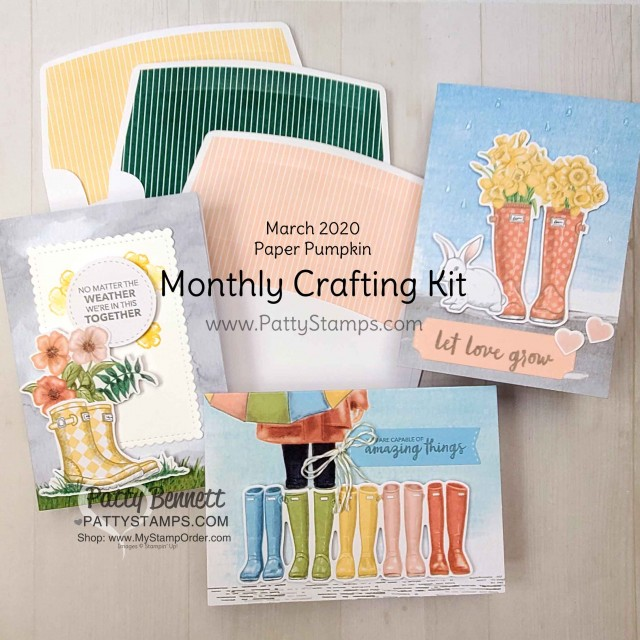Monthly Subscription Crafting and Card Making kits by Stampin Up! - Paper Pumpkin! www.PattyStamps.com