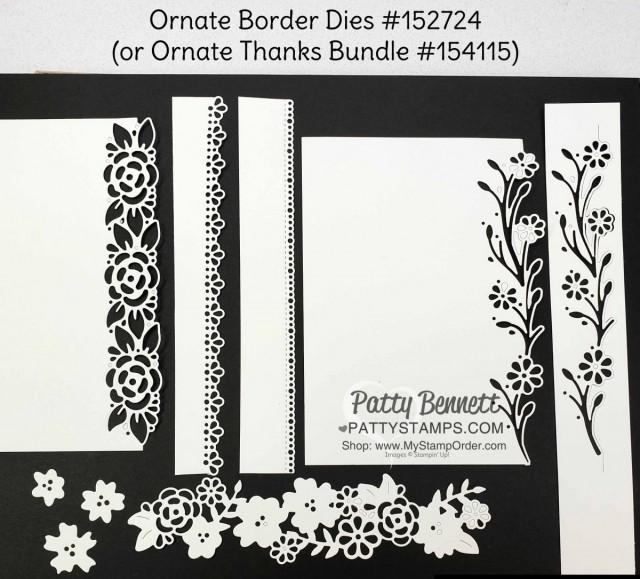 Ornate Garden Suite: Ornate Border Dies #152724 www.PattyStamps.com
