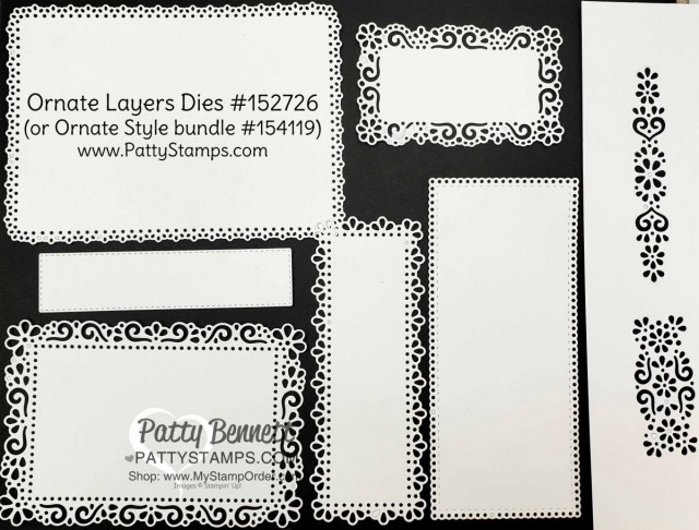 Ornate Garden Suite: Ornate Layers Dies #152726 www.PattyStamps.com