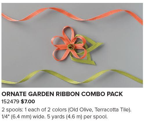 Ornate Garden Suite: Ornate Garden Ribbon Combo pack #152479 www.PattyStamps.com