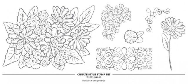 Ornate Garden Suite: Ornate Style stamp set #152572 www.PattyStamps.com