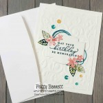Parisian Flourish embossing folder card idea featuring Tropical Oasis designer paper and In the Tropics dies from Stampin