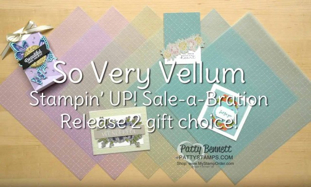 So Very Vellum 12x12 pack available during Sale-a-Bration 2020 from Stampin Up while supplies last! www.PattyStamps.com