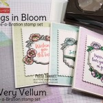 Stampin Up Sale-a-Bration 2020 So Very Vellum gift with purchase! Comes in a pack of 3 colors, preembossed! Great for spring cards! Tags in Bloom set is also a Sale-a-Bration gift offering. www.PattyStamps.com