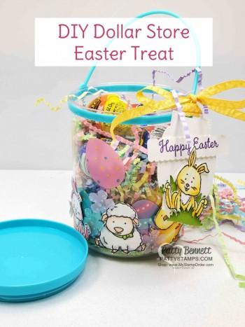 Cute DIY Dollar Store Easter Basket Treat