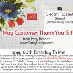 Elegant Faceted Gems - new 2020 Stampin Up Catalog product - free Customer Thank You Gift from Patty for May orders of $60 or more! www.PattyStamps.com