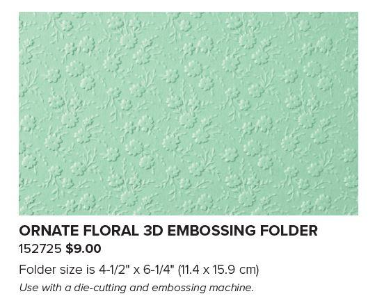 Ornate Garden Suite: Ornate Floral embossing folder #152725 www.PattyStamps.com