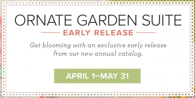 Ornate Garden Suite from Stampin Up - early release starts April 1, 2020. www.PattyStamps.com