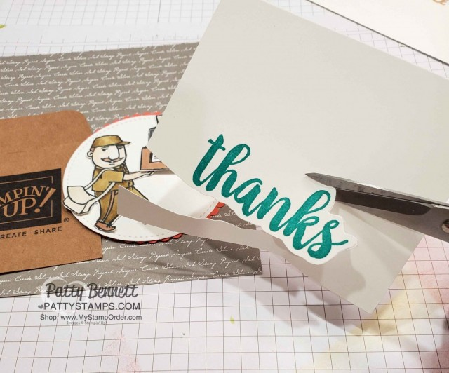 "Seriously the Best ""thanks"" stamp and You Always Deliver Stampin Up set - perfect thank you for UPS men, Amazon deliveries and mail carriers! Patty Bennett www.PattyStamps.com"