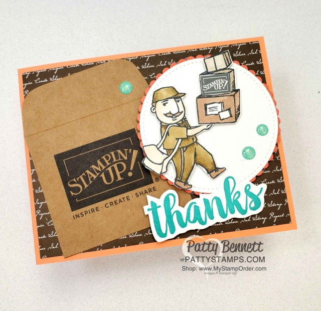 You Always Deliver Stampin Up set - perfect thank you for UPS men, Amazon deliveries and mail carriers! Patty Bennett www.PattyStamps.com