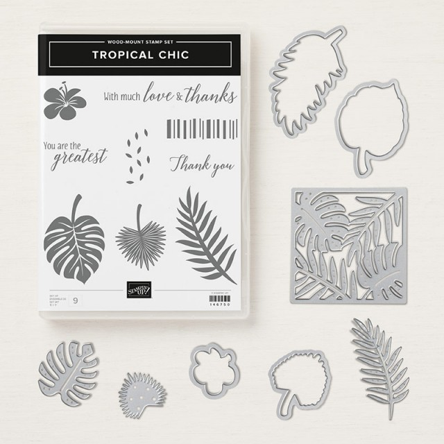 Tropical Chic stamp set retiring from Stampin UP www.PattyStamps.com