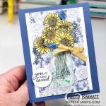 Jar Punch #152703. Flower for Every Season Gems, and Mason Jar Shaker Domes create adorable shaker cards! Stampin UP Flower For Every Season Suite. www.PattyStamps.com