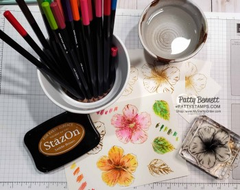 Watercolor Tips for the Hibiscus stamp
