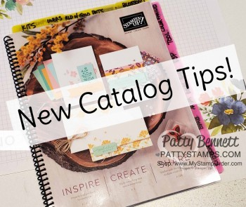 Helpful Tips for your New Stampin' Up! Catalog