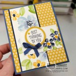 Blossoms in Bloom floral card featuring Stampin Up Bumblebee and Misty Moonlight 2020 2022 IN Colors, by Patty Bennett www.PattyStamps.com