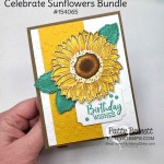 Stampin Up Celebrate Sunflowers bundle card idea colored with Stampin