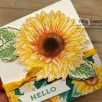 How to add ink with a sponge dauber direct to rubber on the Celebrate Sunflower stamp. Stampin