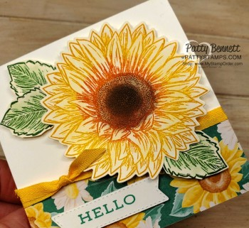 Ink Direct To Rubber Sunflower Card Video