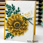 Celebrate Sunflowers bundle from Stampin Up colored with Stampin