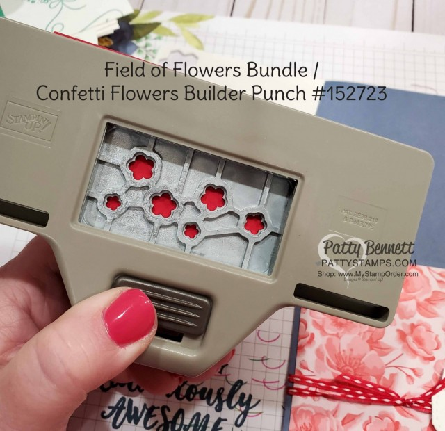 Stampin Up Field of Flowers/ Confetti Flowers builder punch #152723 www.PattyStamps.com