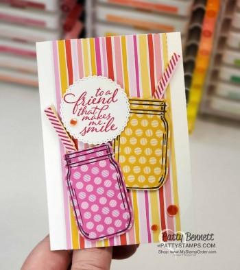 Mason Jar Punch Lemonade Card