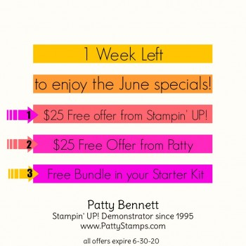 Last Week to Enjoy June Specials