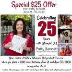 25th anniversary special from Patty Bennett, Stampin