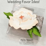 Perfect Wedding Favor Idea! 3D Peony Flower on a 3x3 Acetate Box featuring the Stampin