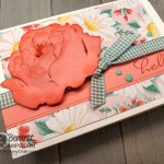 Peony Note Card: Emboss cardstock with the Stampin