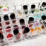 Punched cardstock circles in my Sponge Dauber Organizer! Idea from Patty Bennett for Stampin